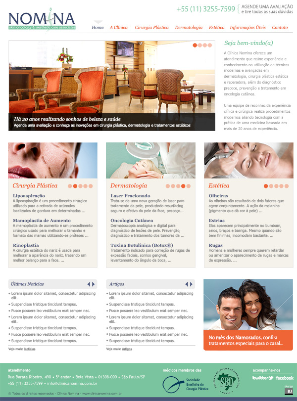 Website Clinica Nomina | Web Design