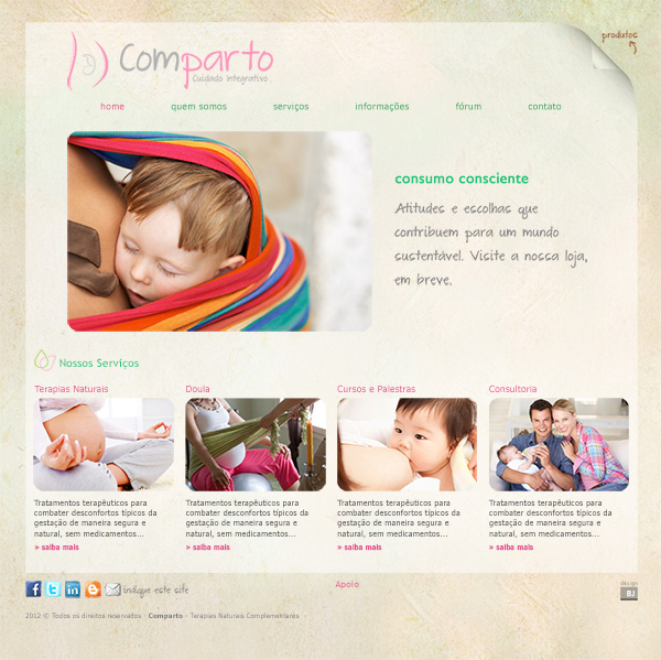 Website Comparto - Cuidado Integrativo | Web Design