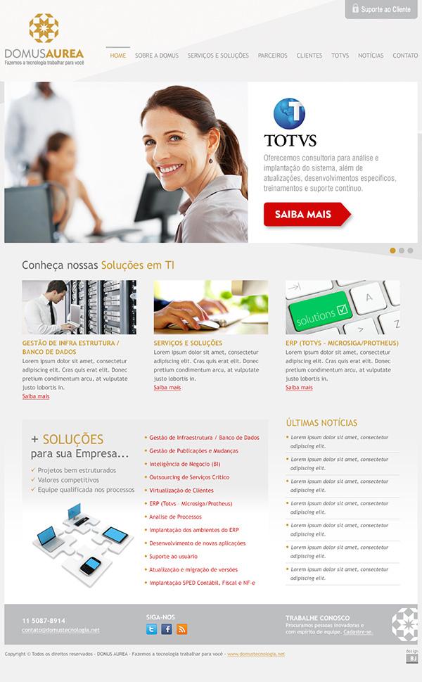 Website Domus Aurea | Web Design