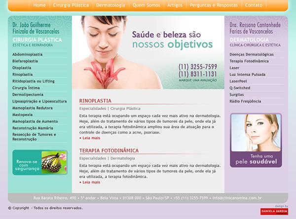 Website Dr. João Guilherme Finizola de Vasconcelos e Dra. Rossana Castanhede Farias de Vasconcelos | Web Design