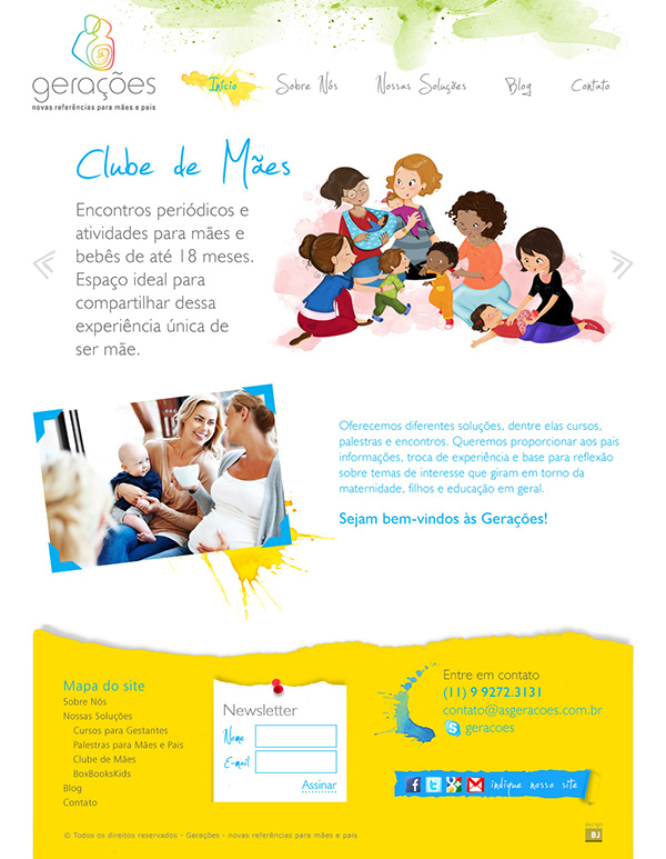 Website Gerações | Web Design