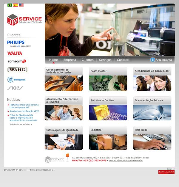 Website JM Services - Soluções em Pós Venda | Web Design