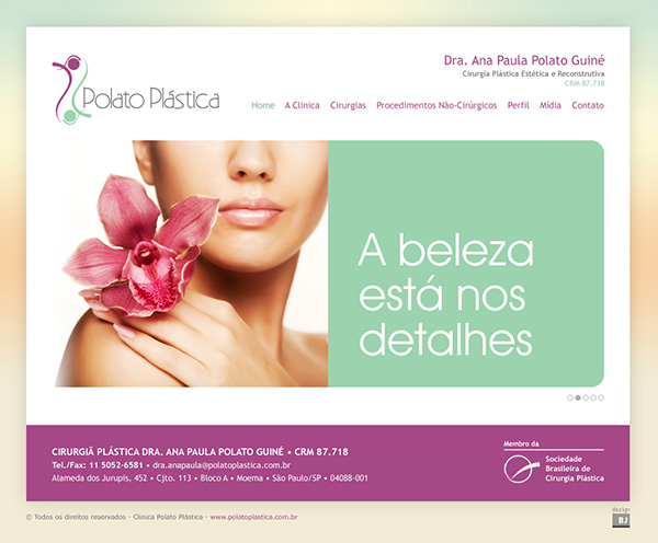 Website Polato Plástica | Web Design