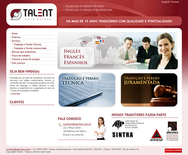 Website Talent Word Bureau | Web Design