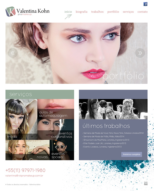 Website Valentina Kohn | Web Design