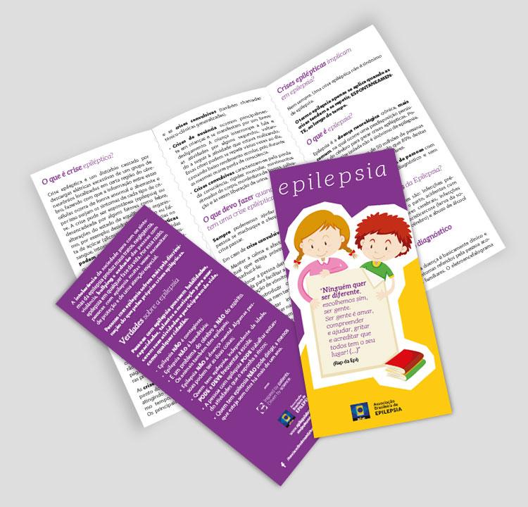 Folder frente e verso | ABE - Associação Brasileira de Epilepsia | Design Gráfico