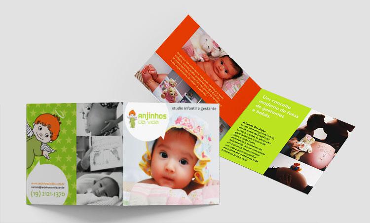 Folder frente e verso | Anjinhos da Vida | Design Gráfico