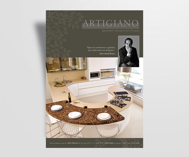 Anúncio de revista | Artigiano | Design Gráfico