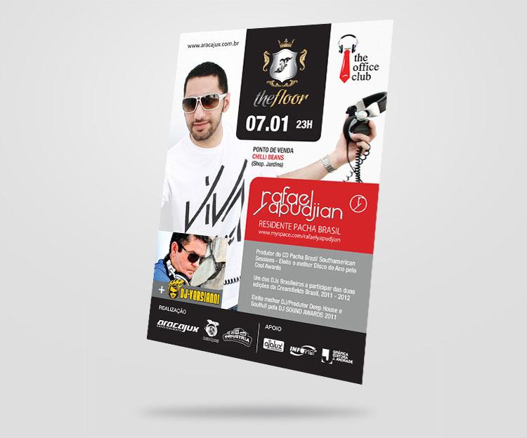 Folheto frente | Aracajux | Design Gráfico