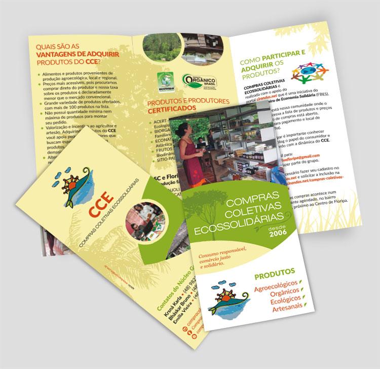 Folder frente e verso | CCE - Compras Coletivas Ecossolidárias | Design Gráfico