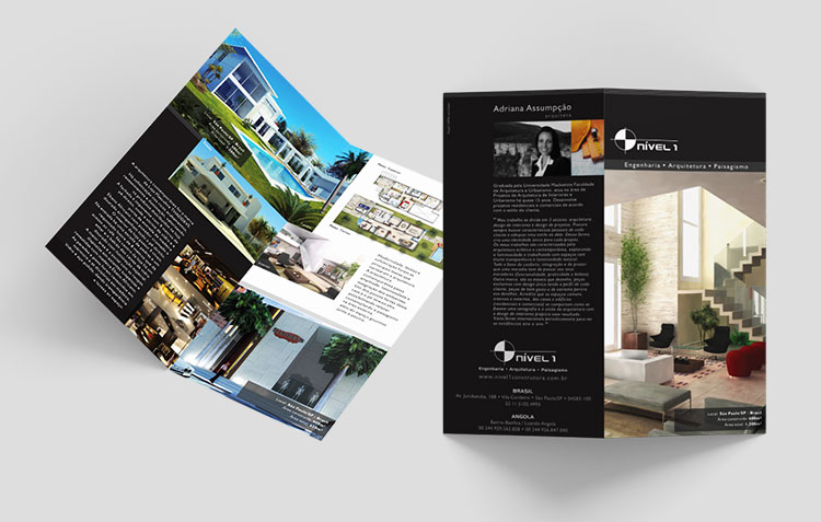 Folder frente e verso | Nível 1 | Design Gráfico