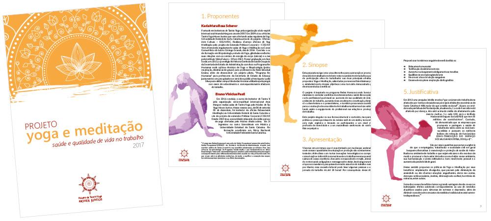 Diagramação: projeto yoga e meditação
