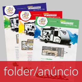 Folder, flyer, panfleto, anúncio