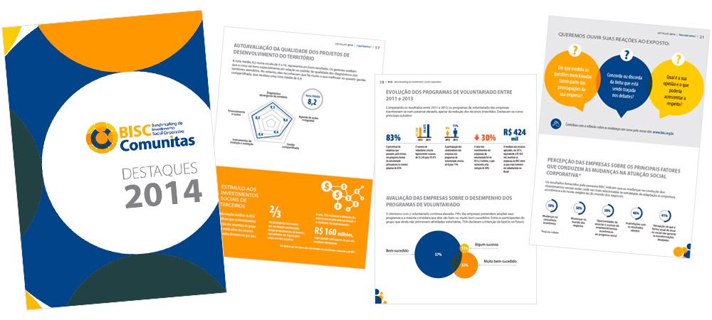 Diagramação: BISC Comunitas - Destaques 2014