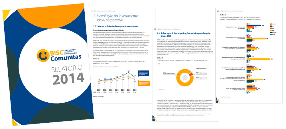 Diagramação: BISC Comunitas - Relatório 2014