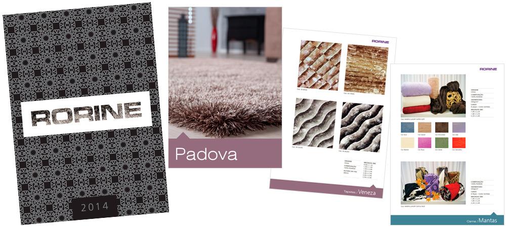 Diagramação: Catálogo de produtos | Tapetes Rorine