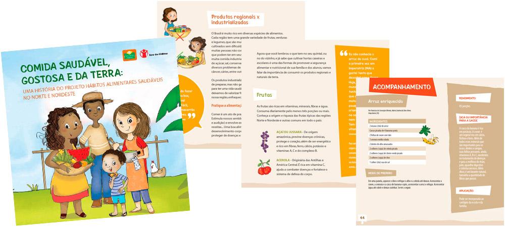 Diagramação: Comida saudável, gostosa e da terra - Fundação Abrinq