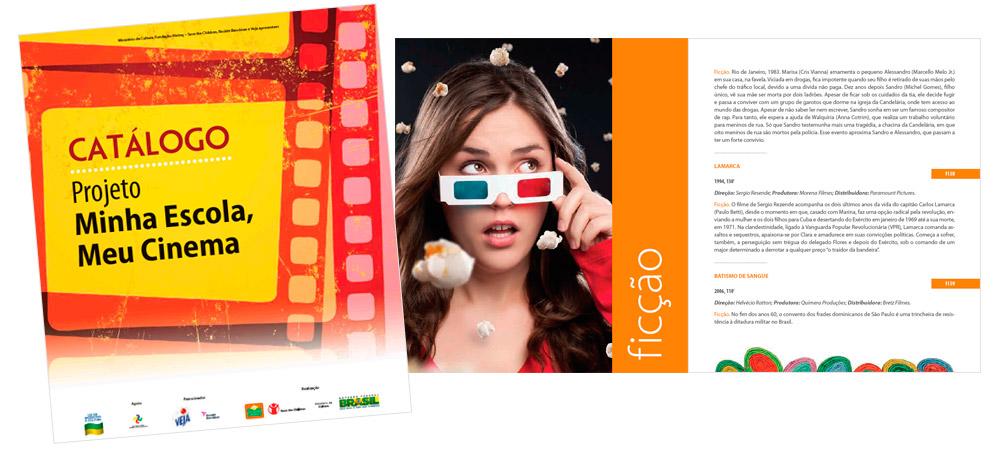 Diagramação: Catálogo - Projeto Minha Escola, Meu Cinema - Fundação Abrinq