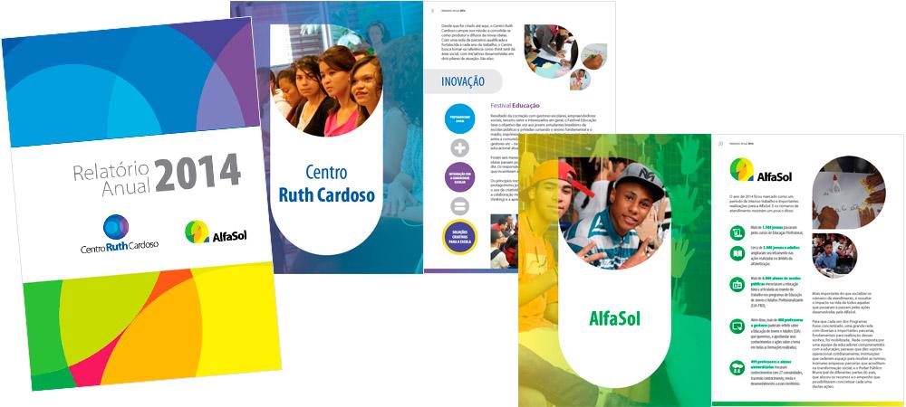 Relatório Anual 2014 - Centro Ruth Cardoso, AlfaSol e UniSol