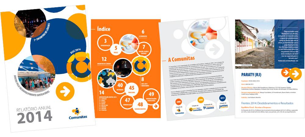 Diagramação: Relatório Anual 2014 - Comunitas