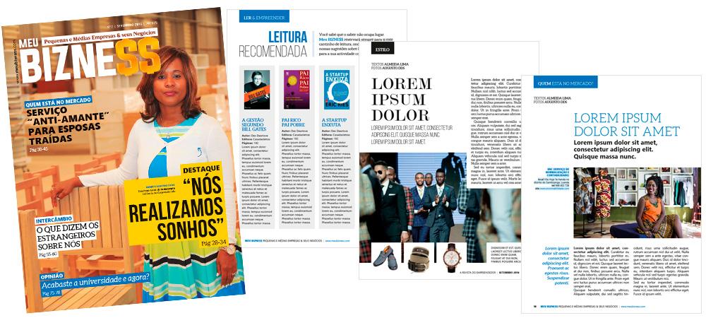 Diagramação: Revista Meu Bizne$$ - Angola
